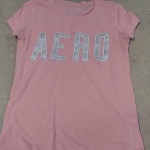 A pink aero t-shirt